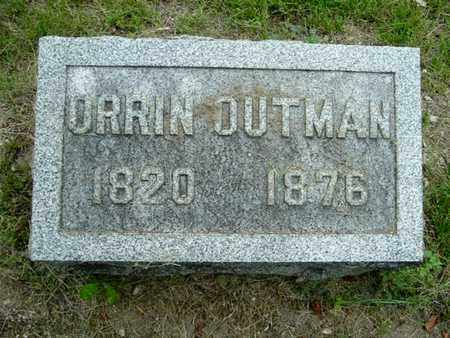 OUTMAN, ORRIN - Calhoun County, Michigan   ORRIN OUTMAN - Michigan Gravestone Photos