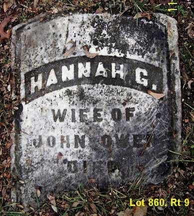 OWEN, HANNAH G - Calhoun County, Michigan   HANNAH G OWEN - Michigan Gravestone Photos