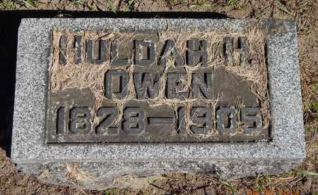 OWEN, HULDAH - Calhoun County, Michigan | HULDAH OWEN - Michigan Gravestone Photos