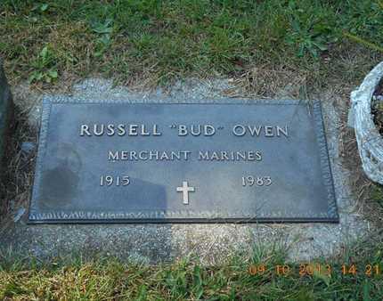 "OWEN, RUSSELL ""BUD"" - Calhoun County, Michigan | RUSSELL ""BUD"" OWEN - Michigan Gravestone Photos"