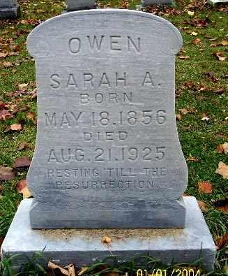 OWEN, SARAH A - Calhoun County, Michigan | SARAH A OWEN - Michigan Gravestone Photos
