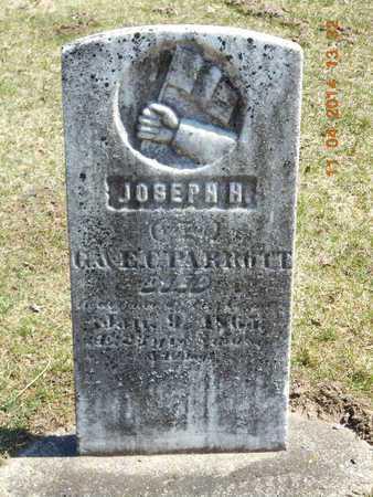 PARROTT, JOSEPH H. - Calhoun County, Michigan   JOSEPH H. PARROTT - Michigan Gravestone Photos