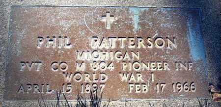 PATTERSON, PHIL - Calhoun County, Michigan | PHIL PATTERSON - Michigan Gravestone Photos