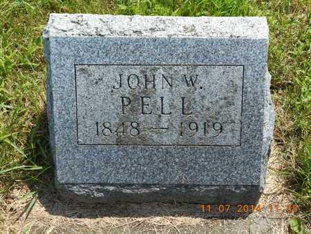 PELL, JOHN W. - Calhoun County, Michigan | JOHN W. PELL - Michigan Gravestone Photos