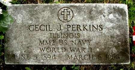 PERKINS, CECIL J - Calhoun County, Michigan | CECIL J PERKINS - Michigan Gravestone Photos