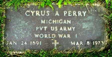 PERRY, CYRUS A - Calhoun County, Michigan | CYRUS A PERRY - Michigan Gravestone Photos