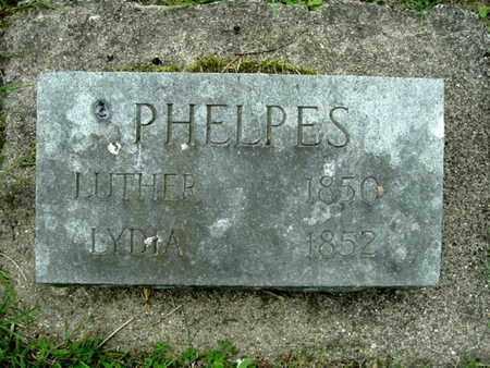 PHELPES, LUTHER - Calhoun County, Michigan | LUTHER PHELPES - Michigan Gravestone Photos