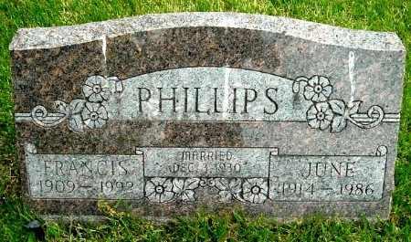 PHILLIPS, FRANCIS - Calhoun County, Michigan | FRANCIS PHILLIPS - Michigan Gravestone Photos