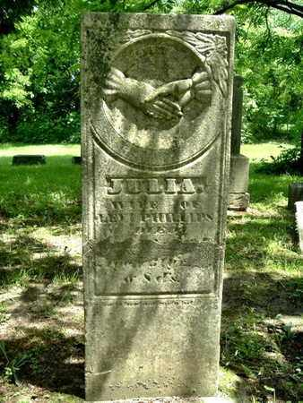 JULIA PHILLIPS, JULIA - Calhoun County, Michigan | JULIA JULIA PHILLIPS - Michigan Gravestone Photos