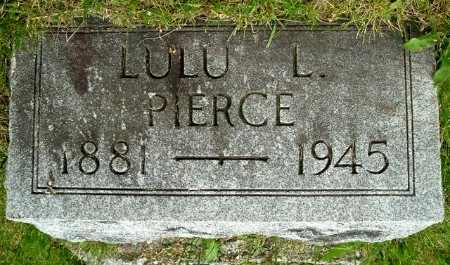 PIERCE, LULU L - Calhoun County, Michigan   LULU L PIERCE - Michigan Gravestone Photos