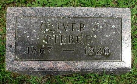 PIERCE, OLIVER J - Calhoun County, Michigan | OLIVER J PIERCE - Michigan Gravestone Photos