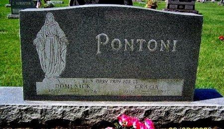 PONTONI, DOMENICK - Calhoun County, Michigan | DOMENICK PONTONI - Michigan Gravestone Photos