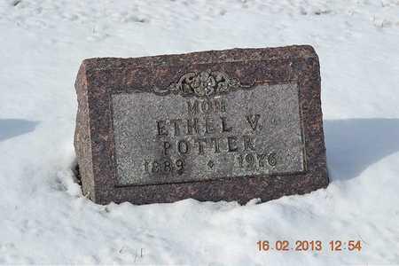 POTTER, ETHEL V. - Calhoun County, Michigan | ETHEL V. POTTER - Michigan Gravestone Photos