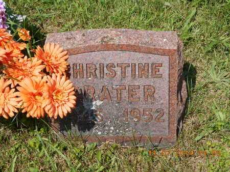 PRATER, CHRISTINE - Calhoun County, Michigan | CHRISTINE PRATER - Michigan Gravestone Photos