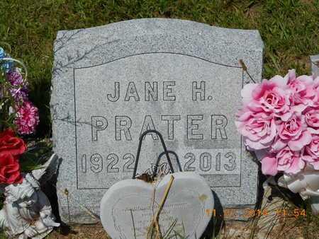 SPARKS PRATER, JANE H. - Calhoun County, Michigan   JANE H. SPARKS PRATER - Michigan Gravestone Photos