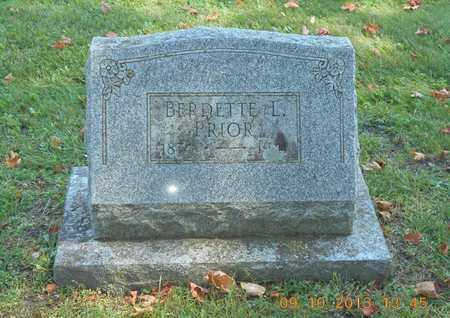 PRIOR, BERDETTE L. - Calhoun County, Michigan | BERDETTE L. PRIOR - Michigan Gravestone Photos
