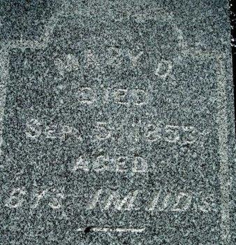 PRIOR, MARY D. - Calhoun County, Michigan | MARY D. PRIOR - Michigan Gravestone Photos