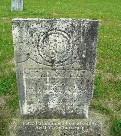 PUTNAM, PETER - Calhoun County, Michigan   PETER PUTNAM - Michigan Gravestone Photos