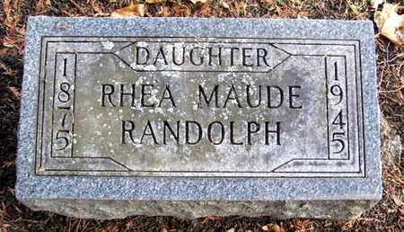 RANDOLPH, RHEA M - Calhoun County, Michigan | RHEA M RANDOLPH - Michigan Gravestone Photos