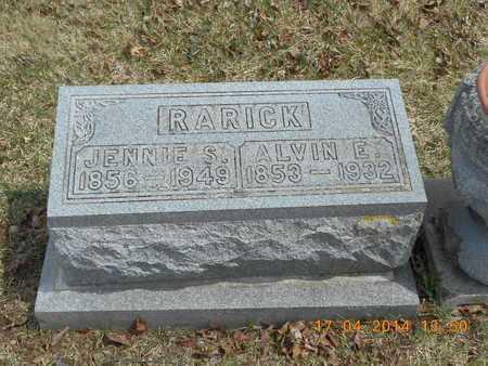 RARICK, JENNIE S. - Calhoun County, Michigan   JENNIE S. RARICK - Michigan Gravestone Photos