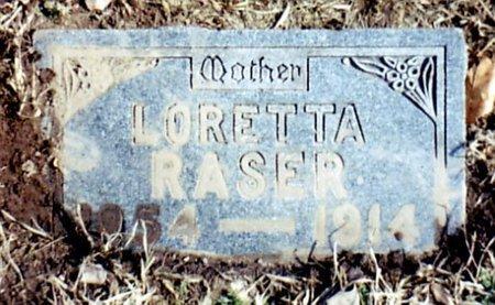 RASER, LORETTA - Calhoun County, Michigan   LORETTA RASER - Michigan Gravestone Photos