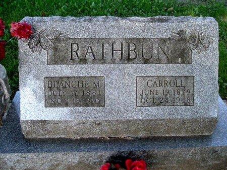 RATHBUN, CARROLL - Calhoun County, Michigan | CARROLL RATHBUN - Michigan Gravestone Photos