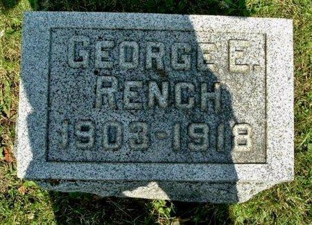 RENCH, GEORGE E - Calhoun County, Michigan | GEORGE E RENCH - Michigan Gravestone Photos