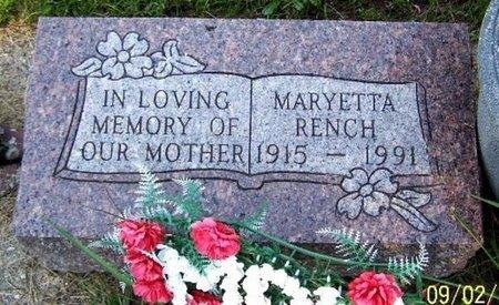 RENCH, MARYETTA - Calhoun County, Michigan | MARYETTA RENCH - Michigan Gravestone Photos