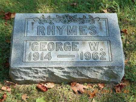 RHYMES, GEORGE W. - Calhoun County, Michigan | GEORGE W. RHYMES - Michigan Gravestone Photos