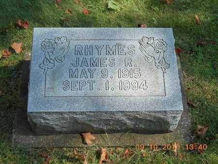 RHYMES, JAMES R. - Calhoun County, Michigan | JAMES R. RHYMES - Michigan Gravestone Photos