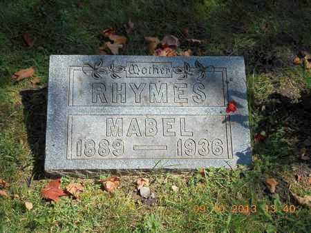 RHYMES, MABEL - Calhoun County, Michigan | MABEL RHYMES - Michigan Gravestone Photos