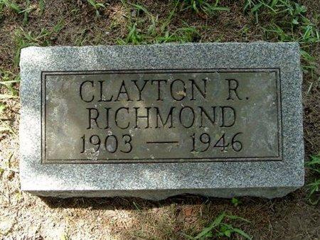 RICHMOND, CLAYTON R. - Calhoun County, Michigan | CLAYTON R. RICHMOND - Michigan Gravestone Photos