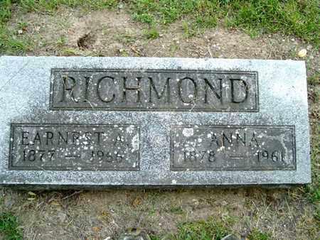 RICHMOND, EARNEST - Calhoun County, Michigan | EARNEST RICHMOND - Michigan Gravestone Photos