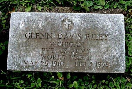 RILEY, GLENN D. - Calhoun County, Michigan | GLENN D. RILEY - Michigan Gravestone Photos