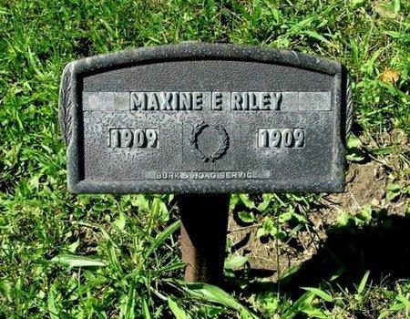 RILEY, MAXINE E. - Calhoun County, Michigan | MAXINE E. RILEY - Michigan Gravestone Photos