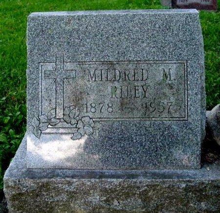 RILEY, MILDRED M. - Calhoun County, Michigan   MILDRED M. RILEY - Michigan Gravestone Photos