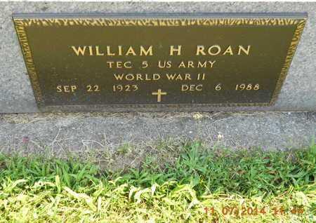 ROAN, WILLIAM H. - Calhoun County, Michigan | WILLIAM H. ROAN - Michigan Gravestone Photos