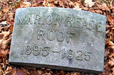 ROOF, MARION - Calhoun County, Michigan | MARION ROOF - Michigan Gravestone Photos
