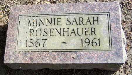 ROSENHAUER, MINNIE - Calhoun County, Michigan | MINNIE ROSENHAUER - Michigan Gravestone Photos