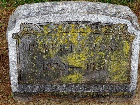 ROSS, HARRIET A - Calhoun County, Michigan | HARRIET A ROSS - Michigan Gravestone Photos