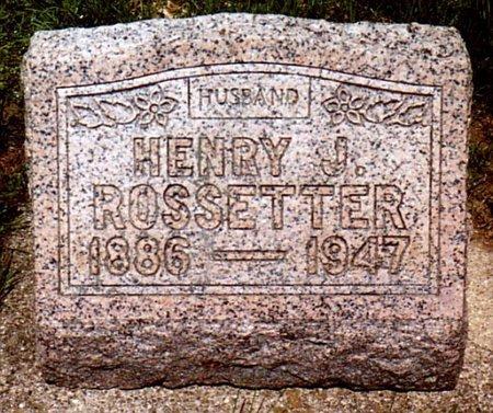ROSSETTER, HENRY J - Calhoun County, Michigan   HENRY J ROSSETTER - Michigan Gravestone Photos