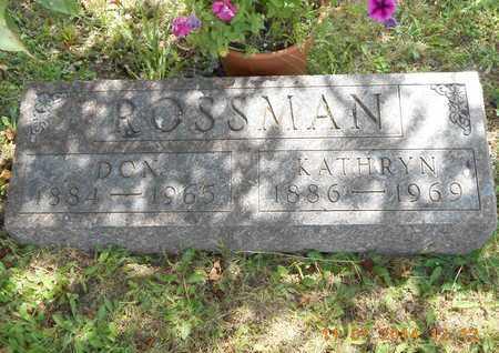 ROSSMAN, KATHRYN N. - Calhoun County, Michigan | KATHRYN N. ROSSMAN - Michigan Gravestone Photos
