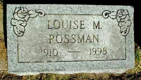 ROSSMAN, LOUISE M - Calhoun County, Michigan | LOUISE M ROSSMAN - Michigan Gravestone Photos
