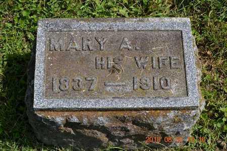 ROSSMAN, MARY A. - Calhoun County, Michigan   MARY A. ROSSMAN - Michigan Gravestone Photos