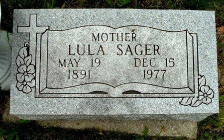 SAGER, LULA - Calhoun County, Michigan   LULA SAGER - Michigan Gravestone Photos