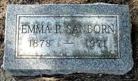SANBORN, EMMA P - Calhoun County, Michigan | EMMA P SANBORN - Michigan Gravestone Photos