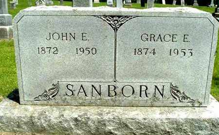 SANBORN, GRACE E - Calhoun County, Michigan   GRACE E SANBORN - Michigan Gravestone Photos