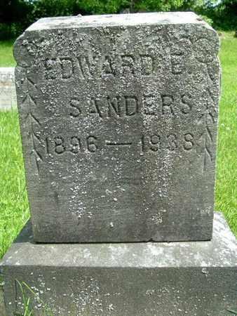 SANDERS, EDWARD E. - Calhoun County, Michigan | EDWARD E. SANDERS - Michigan Gravestone Photos