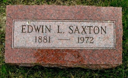 SAXTON, EDWIN L - Calhoun County, Michigan | EDWIN L SAXTON - Michigan Gravestone Photos
