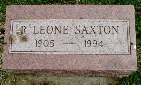 SAXTON, R. LEONE - Calhoun County, Michigan | R. LEONE SAXTON - Michigan Gravestone Photos